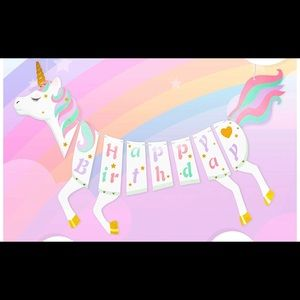 Other - ⚡️3 for $20! Unicorn 🦄 birthday decorations!!!